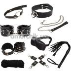 Бондажный набор sLash BDSM Leather Set Max, черный - Фото №1