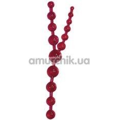 Анальная тройная цепочка Triple Sex Ruby рубиновая