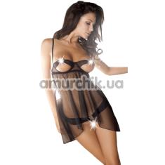 Комплект Anais Estee черный: пеньюар + трусики-стринги - Фото №1