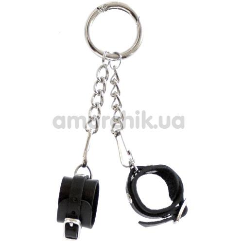 Брелок Feral Feelings наручники с пряжкой, черный - Фото №1