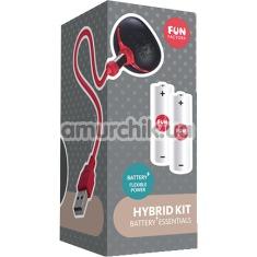 Набор из 2 аккумуляторных батареек и магнитной зарядки для игрушек Fun Factory Hybrid Kit - Фото №1