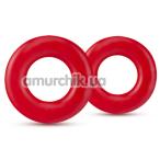 Набор из 2 эрекционных колец Stay Hard Donut Rings, красный - Фото №1
