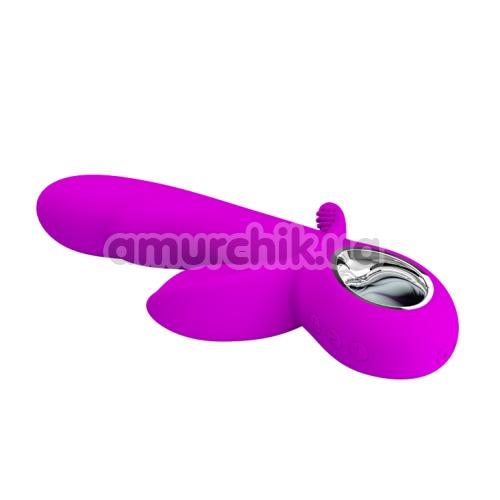Анально-вагинально-клиторальный вибратор Pretty Love Humphrey, фиолетовый