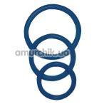 Набор эрекционных колец Sexy Circles Cockring-Set, 3 шт синий - Фото №1