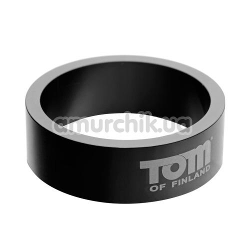 Эрекционное кольцо Tom of Finland 50mm Aluminum Cock Ring, черное - Фото №1