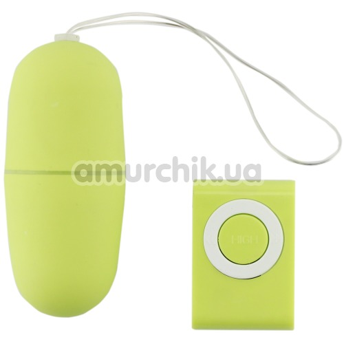 Виброяйцо Remote Control Vibrating Egg, салатовое