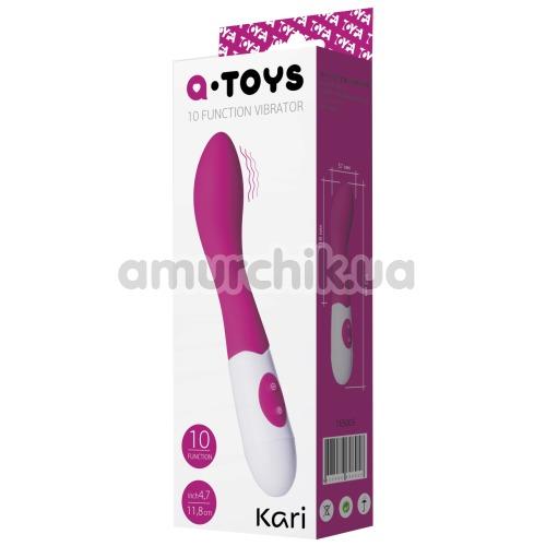 Вибратор для точки G A-Toys 10-Function Vibrator Kari, розовый