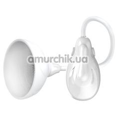 Вакуумная помпа для увеличения груди Pretty Love Breast Vibrating Massager, белая - Фото №1