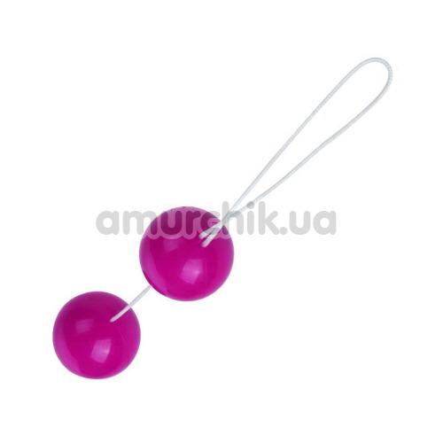 Вагинальные шарики Twin Balls гладкие, розовые - Фото №1