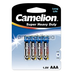 Батарейки Camelion Super Heavy Duty AAA, 4 шт