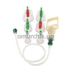 Набор вакуумных стимуляторов Cupping Vacuum Cup Set - Фото №1