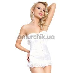 Комплект Iria белый: корсет + трусики-стринги