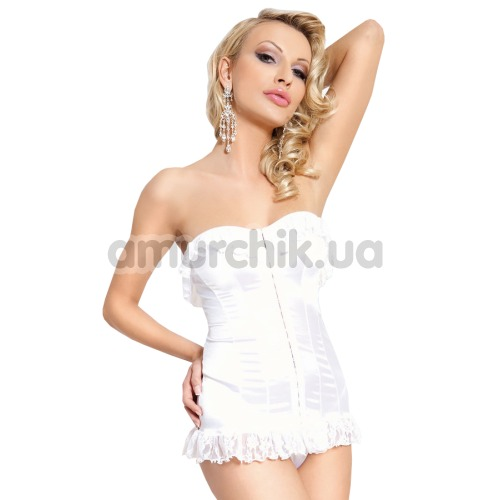 Комплект Iria белый: корсет + трусики-стринги - Фото №1
