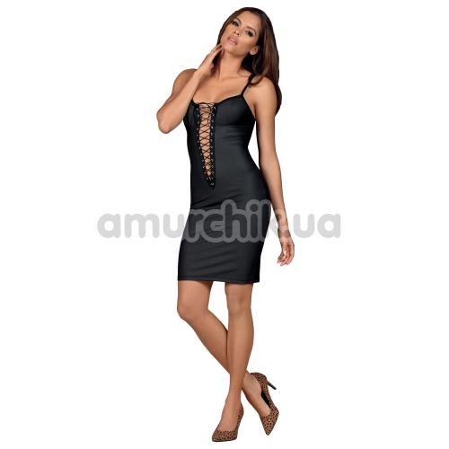 Комплект Obsessive Redella, черный: платье + трусики-стринги - Фото №1