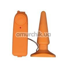 Анальная пробка с вибрацией Funky Vibrating Buttplug, оранжевая - Фото №1