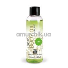 Массажное масло Shiatsu Luxury Body Oil Lime - лайм, 100 мл - Фото №1