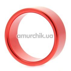 Эрекционное кольцо Hot Metal #1, 4 см красное - Фото №1