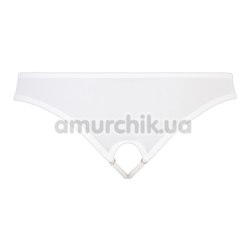 Трусики-стринги Cotelli Collection Pearl Briefs 2310023, белые