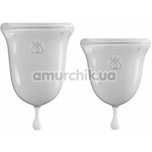 Набор из 2 менструальных чаш Jimmyjane Intimate Care Menstrual Cups, прозрачный - Фото №1