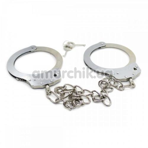 Поножи Loveshop Ankle Cuffs Metal 810333, серебряные