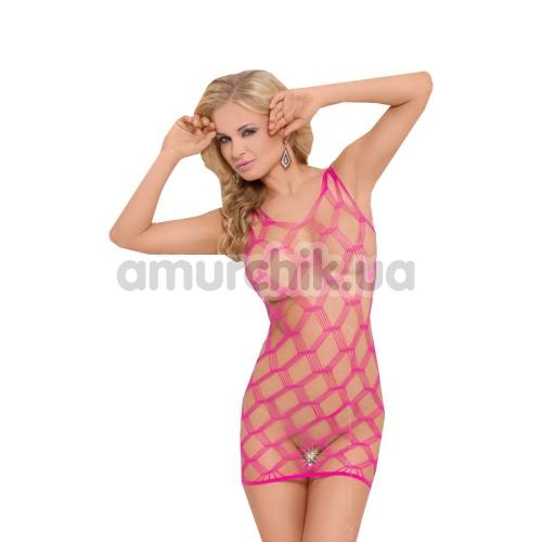 Платье-сетка Kitty, розовое - Фото №1