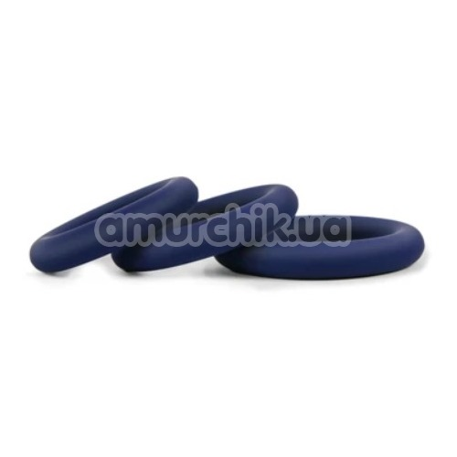 Набор эрекционных колец Hombre Snug Fit Silicone Thick C-Rings, синий