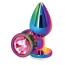 Анальная пробка с розовым кристаллом SWAROVSKI Rear Assets M, радужная - Фото №1