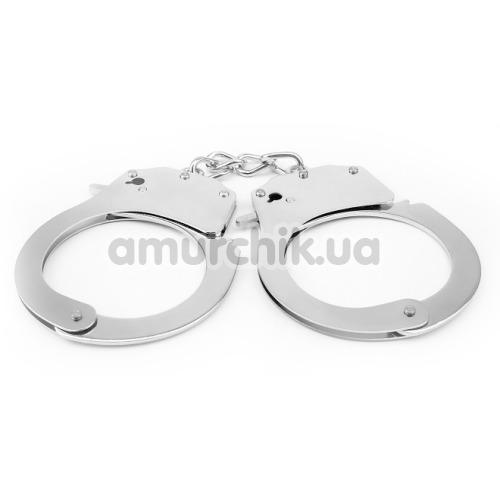 Наручники Hi-Basic Luv Punish Cuffs, серебряные - Фото №1