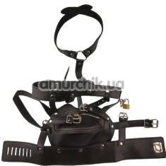 Маска с ремнями Fetish Mask, черная - Фото №1