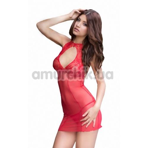 Комплект Sonia красный: комбинация + трусики-стринги - Фото №1