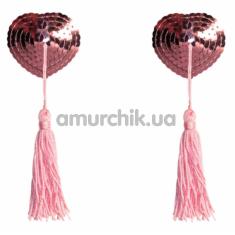 Украшения для сосков Burlesque Gipsy, розовые - Фото №1