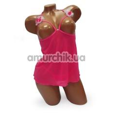 Комплект Candy розовый: комбинация + трусики-стринги