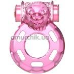 Виброкольцо Vibration ring Bear Pink, розовое - Фото №1