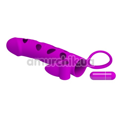 Насадка на пенис с вибрацией Pretty Love 026215-1, розовая