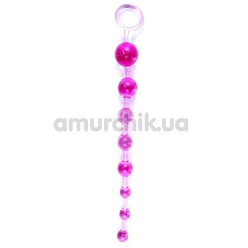Анальная цепочка Sex Toy Jelly Anal Beads, розовая - Фото №1