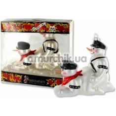 Ёлочная игрушка Нескромные снеговики
