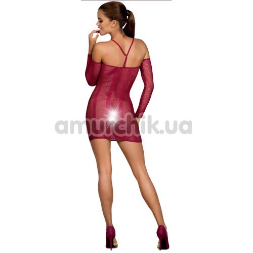 Платье Obsessive Dressie, бордовое