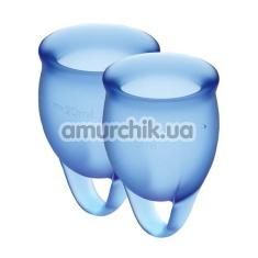 Набор из 2 менструальных чаш Satisfyer Feel Confident, синий - Фото №1