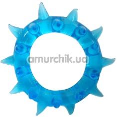 Кольцо-насадка Pure Arousal голубое с длинными шипами - Фото №1
