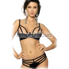 Комплект ANS Foxen чёрный: бюстгальтер + трусики-стринги - Фото №1