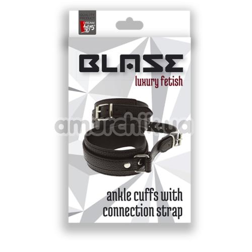 Поножи Blaze Luxury Fetish Ancle Cuffs With Connection Strap, черные