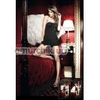Комбинация Black Strap Mini Dress With Lace Borders - Фото №1
