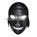 Закрытая маска с молнией и прорезями для глаз Spade, черная - Фото №1