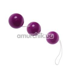 Анально-вагинальные шарики Sexual Balls, фиолетовые - Фото №1