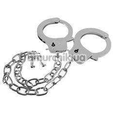 Наручники Metal Handcuffs Long Chain, серебряные