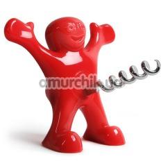 Штопор для вина Happy Man Corkscrew, красный - Фото №1