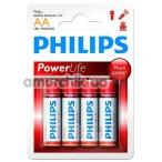 Батарейки Philips PowerLife АА, 4 шт - Фото №1