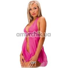 Комплект Livia розовый: пеньюар + трусики-стринги