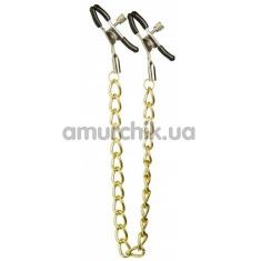 Зажимы для сосков с цепочкой Lucky Bay Nipple Play Long Chain, золотые - Фото №1