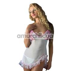 Комплект Morgan белый: комбинация + трусики-стринги - Фото №1